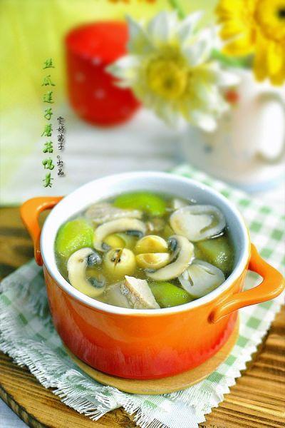 丝瓜蘑菇鸭羹