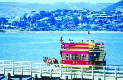 在南澳搭乘马拉车游览