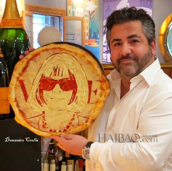组图:美味披萨上面出现性感碧昂丝等时尚名人