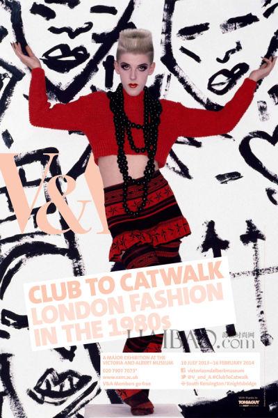 """英国V&A博物馆时装艺术展""""Club to Catwalk"""""""
