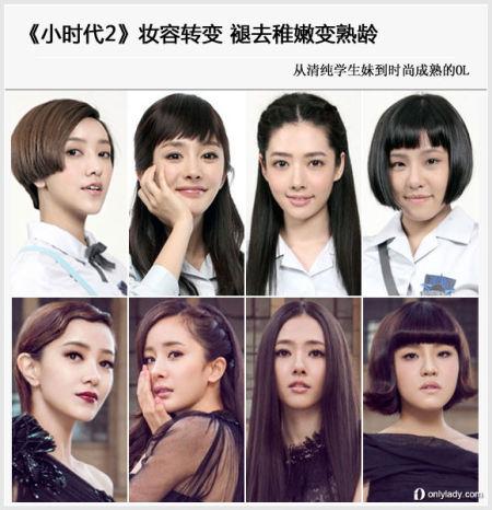 《小时代2》妆容升级夸大眼妆让学生妹变熟女
