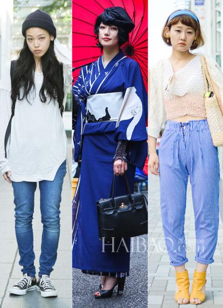 聚焦日本古着聚集地哥特系和服少女最抢镜