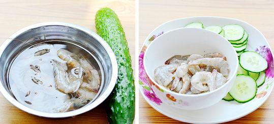 虾仁炒瓜片食材
