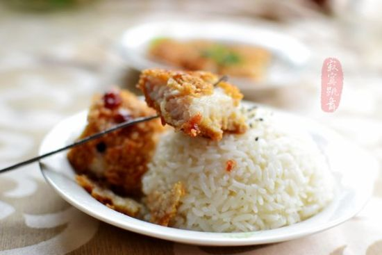 香酥鱼排饭