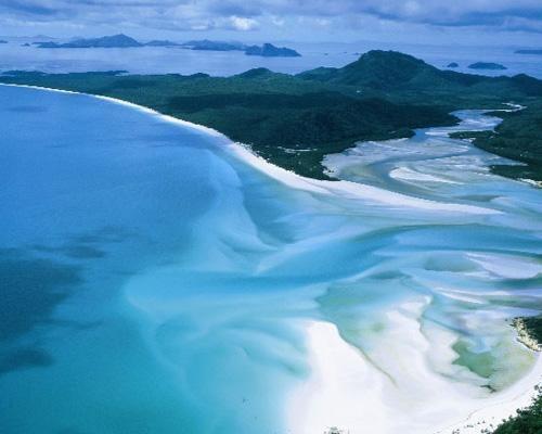 澳大利亚圣灵群岛怀特黑文海滩
