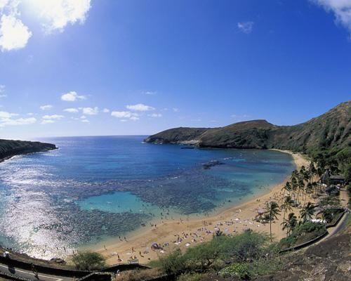 夏威夷瓦胡岛恐龙湾自然保护区海滩