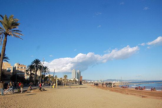 巴塞罗那的海滩
