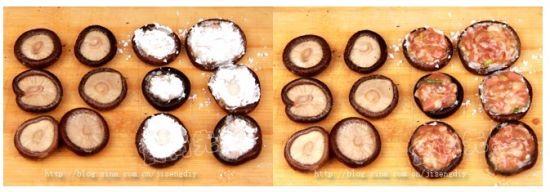 蒸香菇盒做法