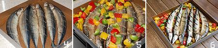 时蔬烤秋刀鱼