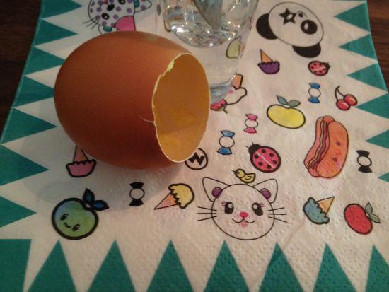 鸡蛋布丁和可爱的纸巾