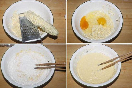 鲜玉米煎饼