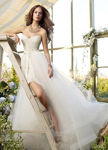 组图:达人教你根据自己的身高腿型挑选新娘婚纱