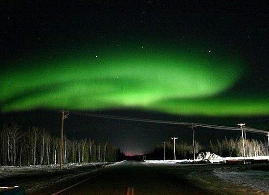 美国阿拉斯加观看北极光