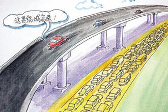 针对容易开错互通 高速交警做出通行提示