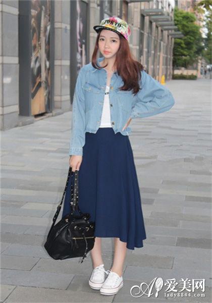 组图:牛仔外套时尚搭早秋让你走在时尚最前沿