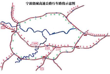 宁波绕城高速示意图