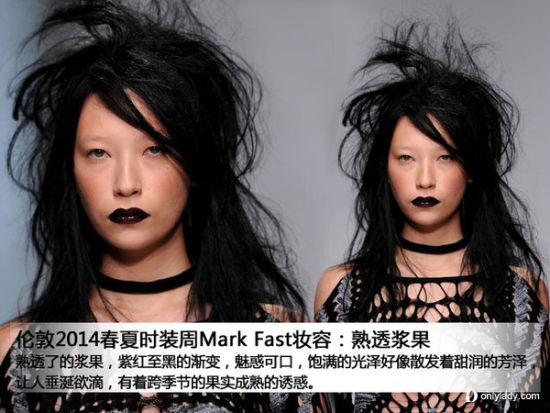 Mark Fast黑唇