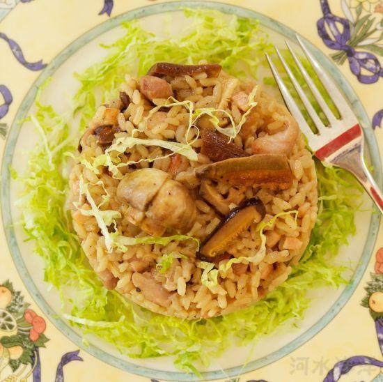 西式美味野菌菇鸡肉烩饭