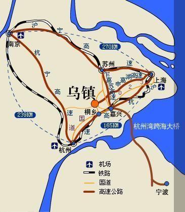 乌镇方位地图