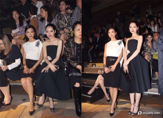 巴黎时装周秀场华人女星发型PK