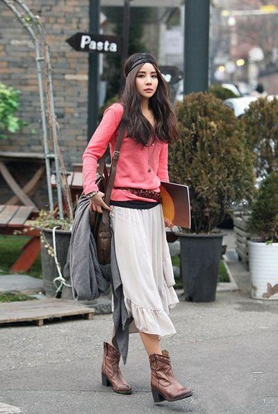 衬衫针织衫卫衣搭配季韩国时尚街拍秋装美搭
