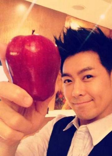 林志颖微博晒苹果