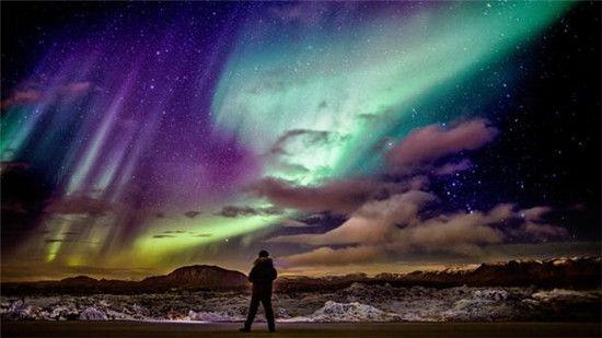 冰岛的北极光