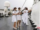 闯向大洋的中国女舰员