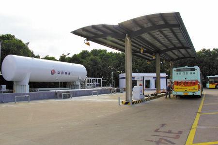 镇海首座液化天然气加气站启用