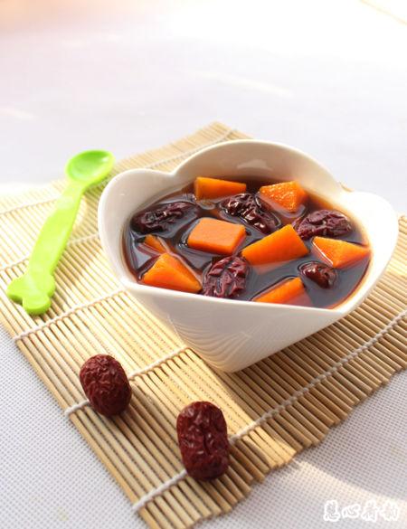红糖南瓜红枣汤