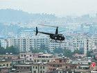 广东惠州警方扫毒出动直升机