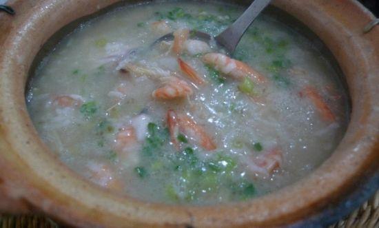 明虾黑鱼粥
