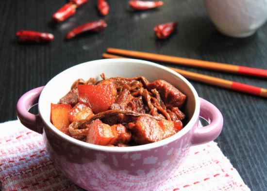 红烧肉烧干豆角