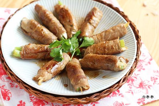 味噌猪肉蔬菜卷