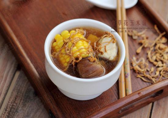 虫草玉米汤