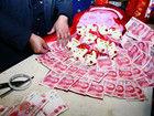 扬州土豪订制万元人民币花束求婚