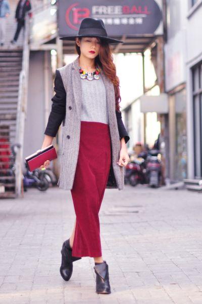 Ava搭配日记大展示时尚博主演绎复古红穿搭