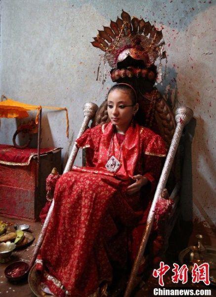 尼泊尔活女神