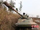 浙江土豪购退役坦克跑越野
