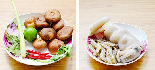冬阴汤材料