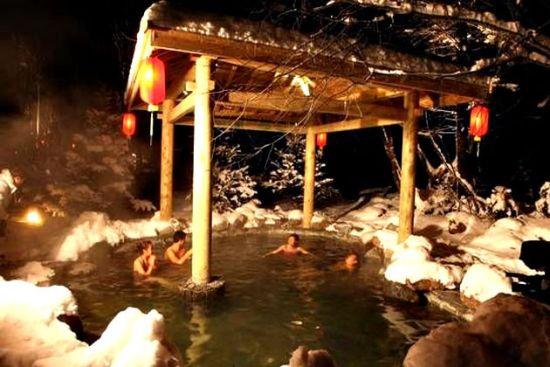 长白山室外温泉