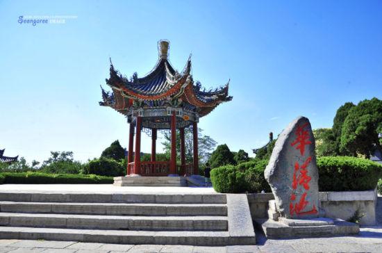 古城西安華清池 唐明皇與楊貴妃的愛情幽會地圖片