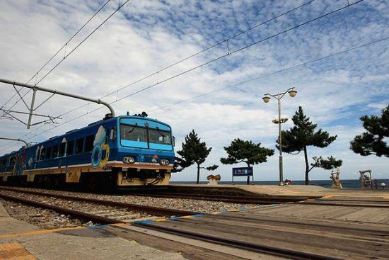 距离海滩最近的火车站