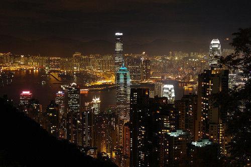 俯瞰香港夜景