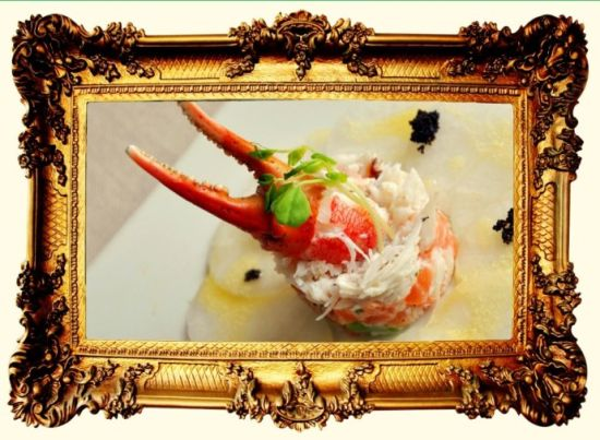 蟹肉三文鱼挞