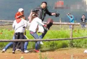 女游客丽江骑马不给钱遭殴打