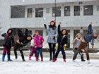 宁波迎来了今年入冬后的第一场雪