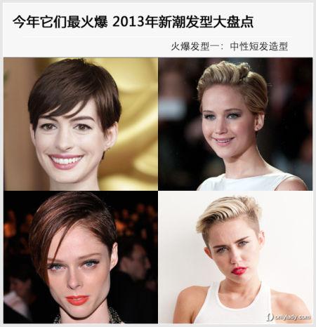 组图:2013年新潮发型大盘点今年它们最抢眼