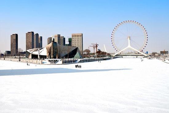 封冻的海河