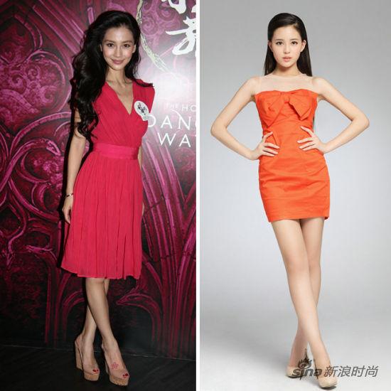 红色小礼服PK